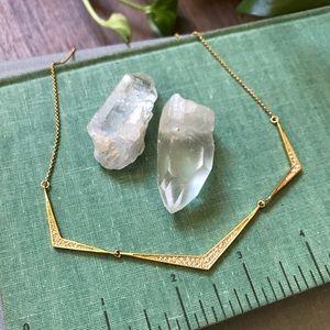 CC Skye - Gold Plated Pavé Necklace